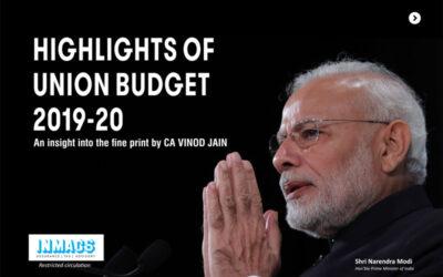 Highlights of Union Budget 2019-2020